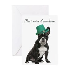 Funny Leprechaun Frenchie Greeting Cards