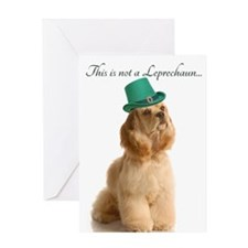 Funny Leprechaun Cocker Spaniel Greeting Cards