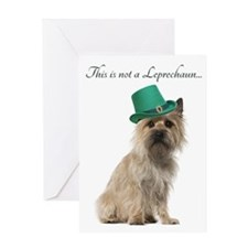 Funny Leprechaun Cairn Terrier Greeting Cards