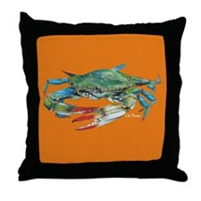 Jimmy Crab Pillow Orange Throw Pillow