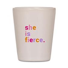 She if Fierce Colors Shot Glass