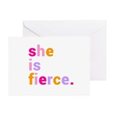 She if Fierce Colors Greeting Cards (Pk of 20)