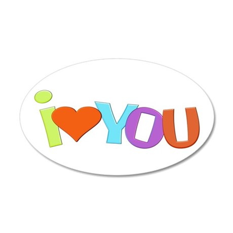 I Heart You 35x21 Oval Wall Decal