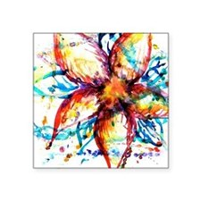 "Vibrant Flower Square Sticker 3"" x 3"""