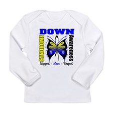 Down Syndrome Butterfly Long Sleeve Infant T-Shirt