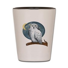 Cute Snowy owl Shot Glass