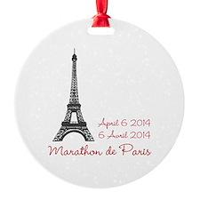 Paris Marathon Ornament