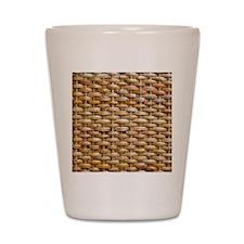 Woven Wicker Basket Shot Glass