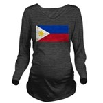 Philippines.jpg Long Sleeve Maternity T-Shirt
