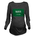 Saudi Arabia.jpg Long Sleeve Maternity T-Shirt