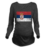 Serbia.jpg Long Sleeve Maternity T-Shirt
