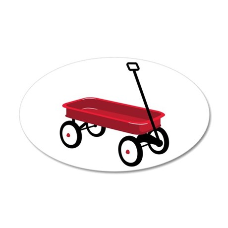 Red Wagon Wall Decal