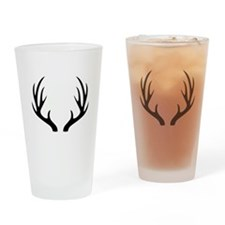 12 Point Deer Antlers Drinking Glass