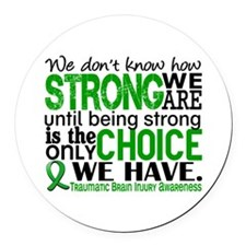 How Strong We Are TBI Round Car Magnet