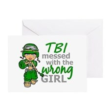 Combat Girl TBI Greeting Card