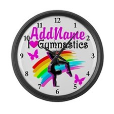 NUMBER 1 GYMNAST Large Wall Clock