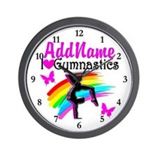 NUMBER 1 GYMNAST Wall Clock