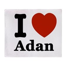 I love Adam Throw Blanket