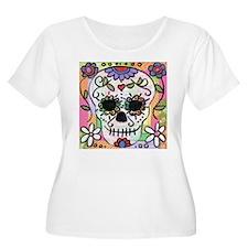 dia de los muertos art Plus Size T-Shirt