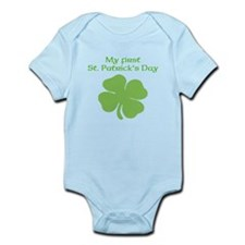 My First St. Patricks Day Shamrock Body Suit
