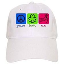 peace luck run Baseball Cap