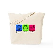 peace luck run Tote Bag