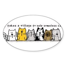 Takes A Village Help Cats Decal