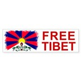 Vintage Free Tibet Bumper Car Sticker