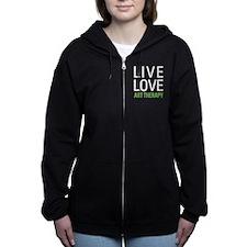 Live Love Art Therapy Zip Hoodie