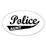 Vintage Police Aunt Oval Decal