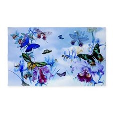 Take Flight Butterfly Orchid Art 3'X5' Area Rug