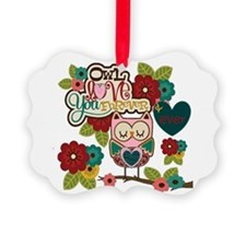 owl love forever Ornament