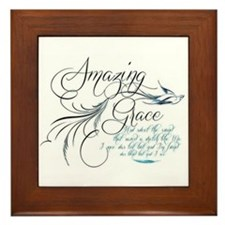 Amazing Grace Framed Tile