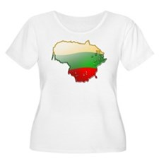"""Lithuania Bubble Map"" T-Shirt"