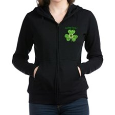 Funny Glitter Shamrock And Horseshoe Shirt Zip Hoo