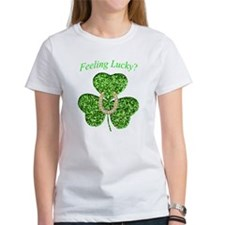 Funny Glitter Shamrock And Horseshoe Shirt T-Shirt