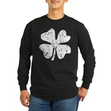Distressed Grunge shamrock Long Sleeve T-Shirt