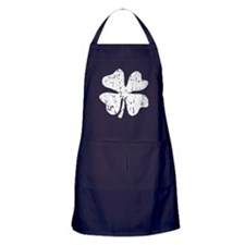 Distressed Grunge shamrock Apron (dark)