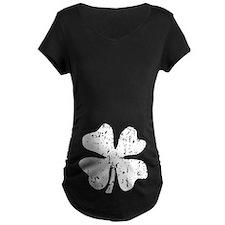 Distressed Grunge shamrock Maternity T-Shirt