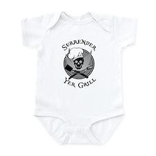 Surrender Yer Grill Black Infant Bodysuit