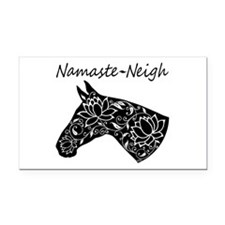 Horse Namaste Neigh Rectangle Car Magnet