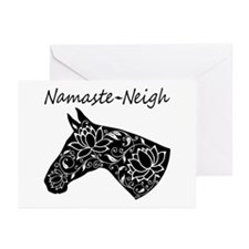 Horse Namaste Neigh Greeting Cards (Pk of 20)