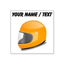 Custom Orange Motorcycle Helmet Sticker