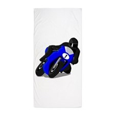 Motorcycle Racer Beach Towel