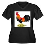 Brown Leghorn Rooster Women's Plus Size V-Neck Dar