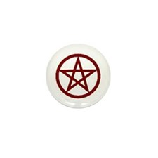 Dark Red Pentagram Mini Button (100 pack)