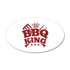 BBQ KING 22x14 Oval Wall Peel