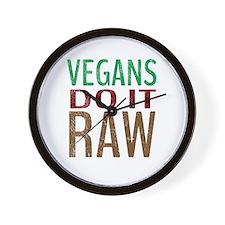 Vegans Do It Raw Wall Clock