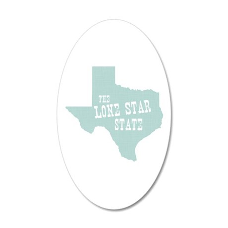 Texas 20x12 Oval Wall Decal