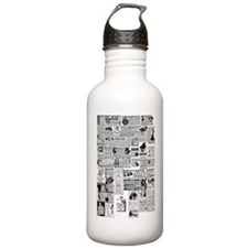 Old Vintage Newspaper  Water Bottle